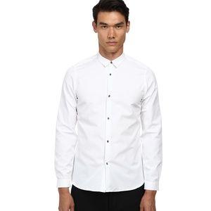 The Kooples Men's Skull Cotton Shirt White Shirt